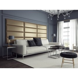 Vant Upholstered Wall Panels (Headboards) Set of 4 - Metallic Gold - 39 Inch - Twin-King.