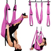 Image Aerial Yoga Hammock Swing Inversion Sling Trapeze Flying Antigravity Pink