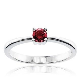 Link to Sterling Silver Round Swarovski Austrian Crystal Birthstone Ring Similar Items in Birthstone Jewelry