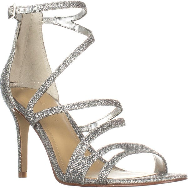 Marc Fisher Blaize Heeled Sandal, Silver Texture