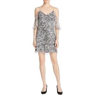 Ella Moss Womens Party Dress Silk Animal Print