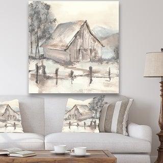 Link to Designart 'Farmhouse Barn Grey VII' Modern Farmhouse Gallery-wrapped Canvas Similar Items in Art Prints