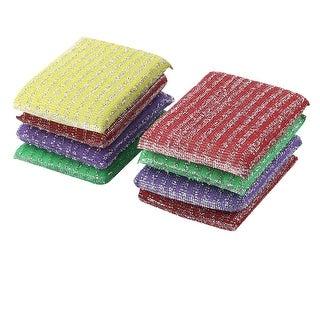 Home Kitchenware Bowl Dish Sponge Wash Scourer Scrubber Cleaning Pads 8pcs