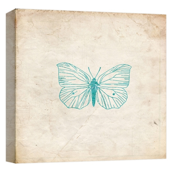 """PTM Images 9-124642 PTM Canvas Collection 12"""" x 12"""" - """"Jade Butterfly"""" Giclee Butterflies Art Print on Canvas"""