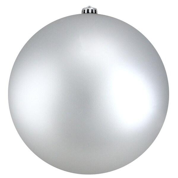 """Silver Splendor Commercial Matte Shatterproof Christmas Ball Ornament 10"""" 250mm"""