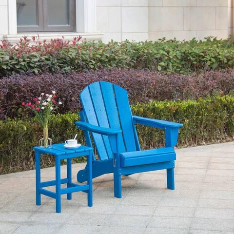 Laguna Poly Folding Adirondack Chair and Side Table
