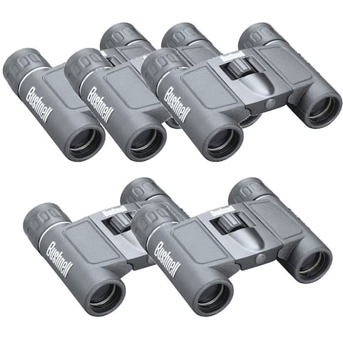Bushnell Powerview 8x21 Roof Prism Binoculars (5-Pack) - Gray
