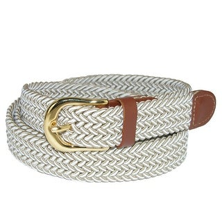 CTM® Women's Multi Color Elastic Braided Belt (4 options available)