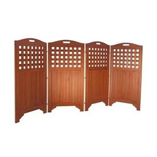Vifah V163 Malibu 94 Inch Wide 4 Panel Eucalyptus Room Divider