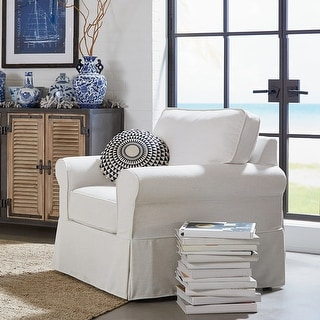 Link to Porch & Den Zuni Arm Chair with Removable Slip Cover Similar Items in Living Room Chairs