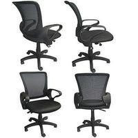 2xhome Mesh Ergonomic Executive Computer Office Desk Task Chair With Cushion Arms Back Wheels Swivel Adjustable Height Mid Back