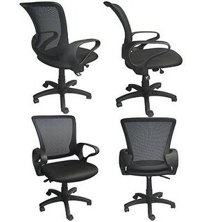 2xhome Mesh Classic Ergonomic design Executive Computer Office Desk Task Chair With Swivel & Adjustable Seat