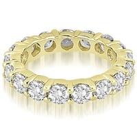 3.40 cttw. 14K Yellow Gold Round Diamond Eternity Ring,HI,SI1-2