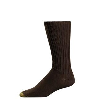 Gold Toe Men's Fluffies Cotton Crew Socks, Shoe Size 6 - 12 1/2 (Option: Brown)