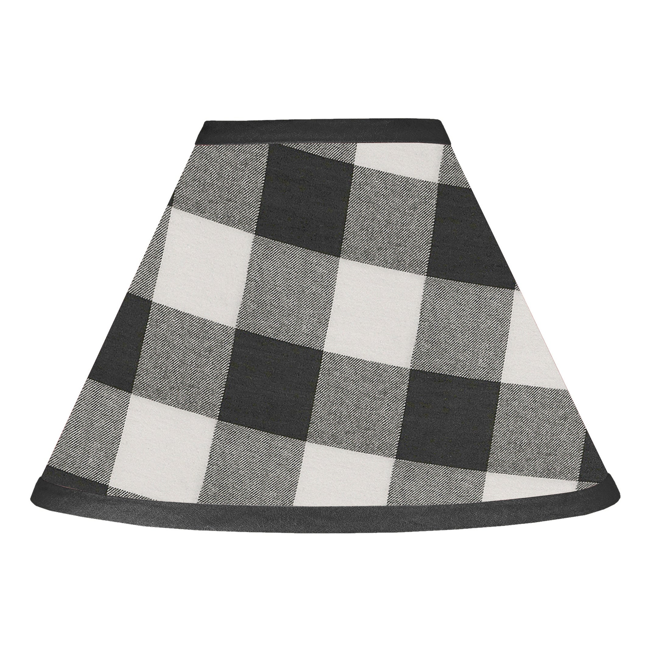 Black And White Buffalo Plaid Collection Lamp Shade Woodland Rustic Country Farmhouse Check Deer Lumberjack Overstock 31459724