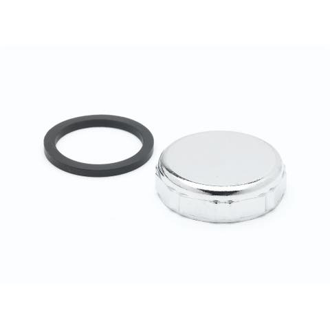 """T and S Brass 012640-45 1-3/4"""" Overflow Cap with Sealing Washer for - Chrome"""