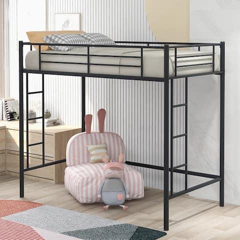 Merax Twin Metal Loft Bed