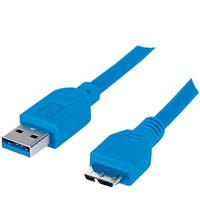 Manhattan 393898 A-Male To Micro B-Male Superspeed Usb 3.0 Cable, 1M
