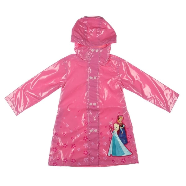 Disney Frozen Raincoat Floral Print Long Sleeves