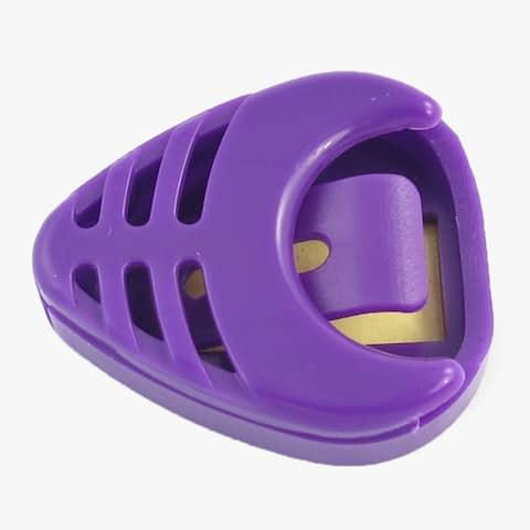 Unique Bargains Portable Adhesive Plastic Guitar Pick Holder Purple