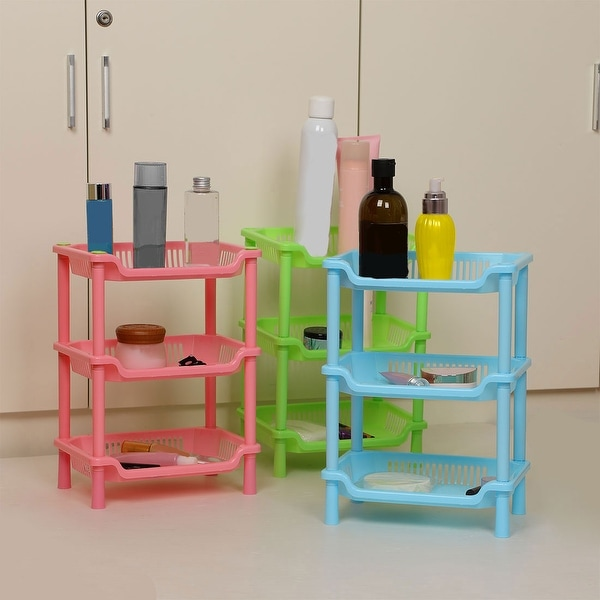 3 Tier Plastic Bathroom Shower Shelf Kitchen Rack Shelf Holder Organizer