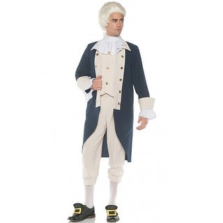 Underwraps Colonial Founding Father Adult Costume - Beige/Blue