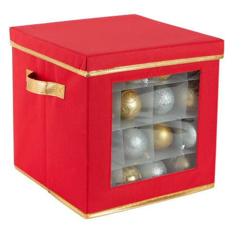 Simplify 64 Count Large Ornament Storage Box with See Through Window