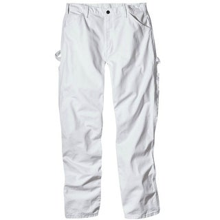 """Dickies 1953WH3230 Men's Relaxed Fit Painter's Pants, 32"""" x 30"""", White"""