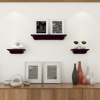 Costway Set of 3 Fireplace Mantel Shelf Ledge Floating Wall Mounted Shelves Decoration