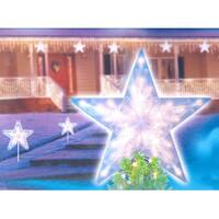 """14"""" Clear Lighted Twinkling Christmas Star Tree Topper or Pathway Marker"""