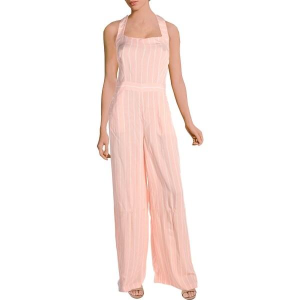 3725f4d018c1 Shop Juicy Couture Black Label Womens Jumpsuit Halter Wide Leg ...