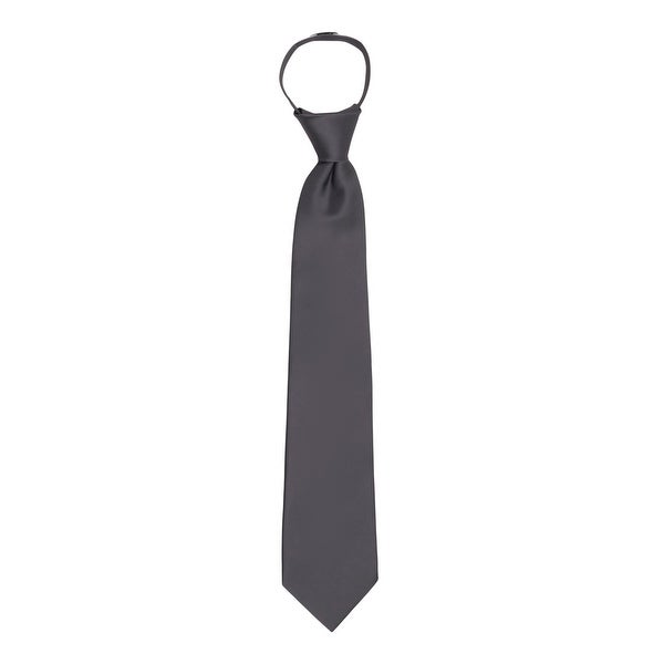 New Kids Boys Zipper up Adjustable Pre-tied Necktie Yellow Black White Stripes