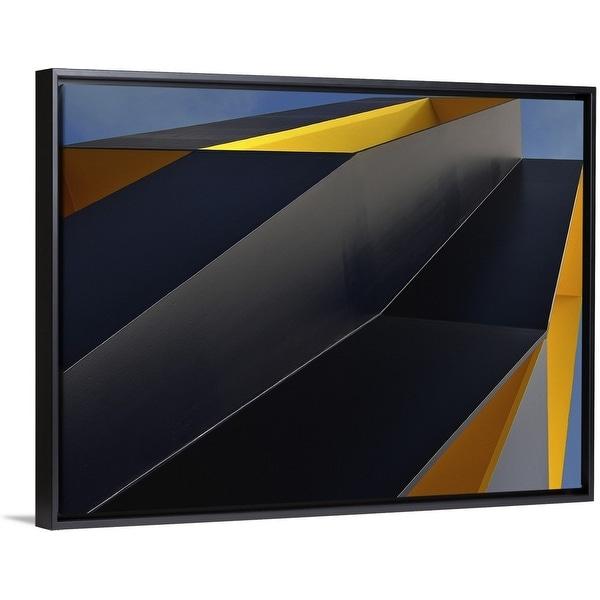 """Column"" Black Float Frame Canvas Art"