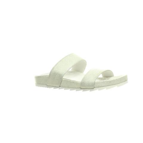 J Slides Womens Edie Silver Sandals Size 7