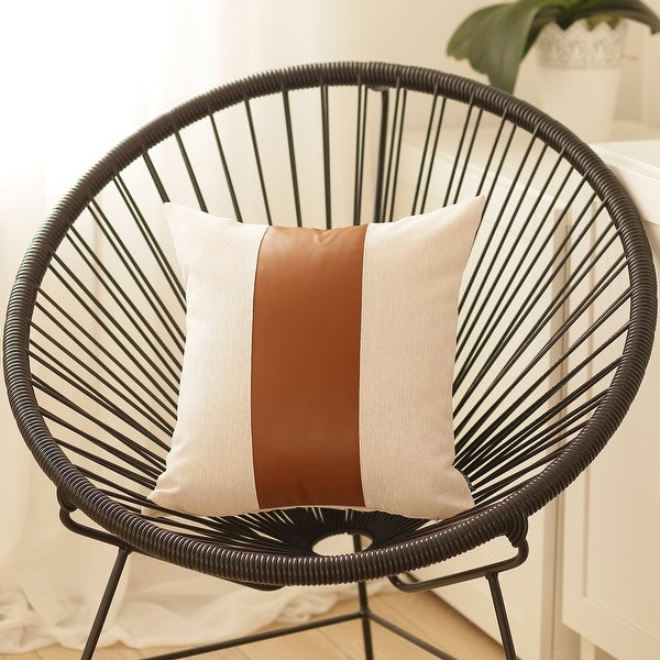 Carson Carrington Hoga Faux Leather Pillow Cover. Opens flyout.
