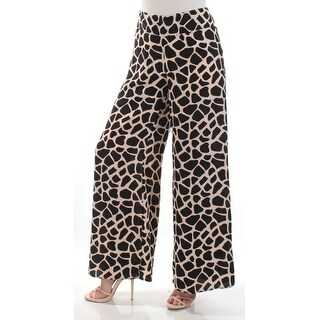 Womens Black Animal Print Casual Pants Size XXL