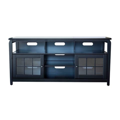 "Offex 60""W TV Stand with Storage Compartments - Black"