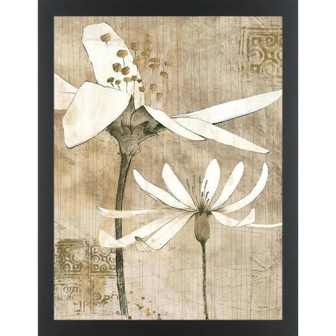 Easy Art Prints Avery Tillmon S Pencil Floral Ii Premium Canvas Art Overstock 25743859
