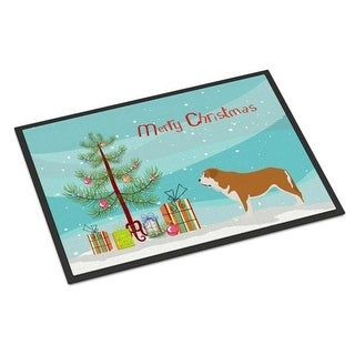 Carolines Treasures BB8511MAT Mastin Epanol Spanish Mastiff Christmas Indoor or Outdoor Mat - 18 x 27 in.