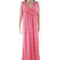Jon & Anna Pink White Womens Size Large L Surplice Maxi Dress