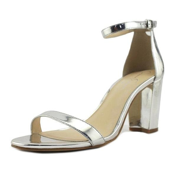 Jessica Simpson Monrae Women Open-Toe Synthetic Silver Heels