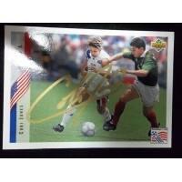Signed Jones Cobi 1994 Upper Deck Soccer Card autographed