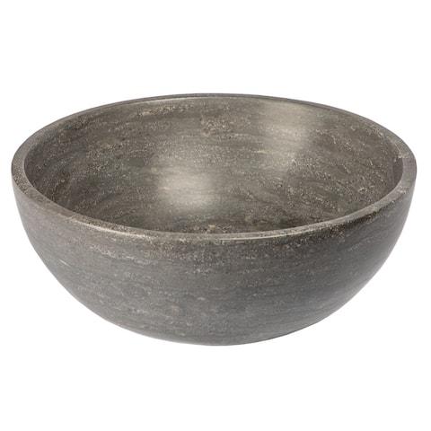 Eden Bath Small Vessel Sink Bowl - Honed Black Limestone
