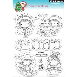 "Penny Black Clear Stamps 5""X7""-Mimi's Christmas"