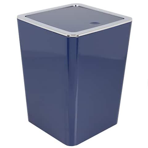 Home Basics Skylar Swing Top 3 Liter ABS Plastic Waste Bin - 3 Liter