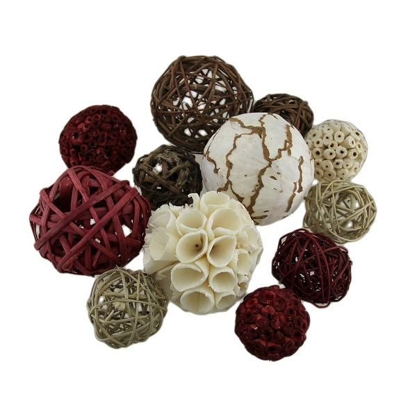 18 Pc. Exotic Dried Organic Decorative Spheres - 4 X 4 X 4 inches
