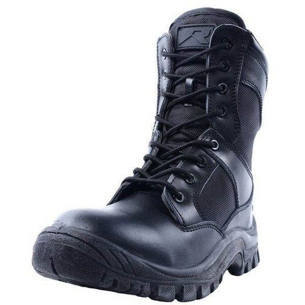 "Ridge Tactical Boots Mens Nighthawk 8"" Shaft Lace Up Black"
