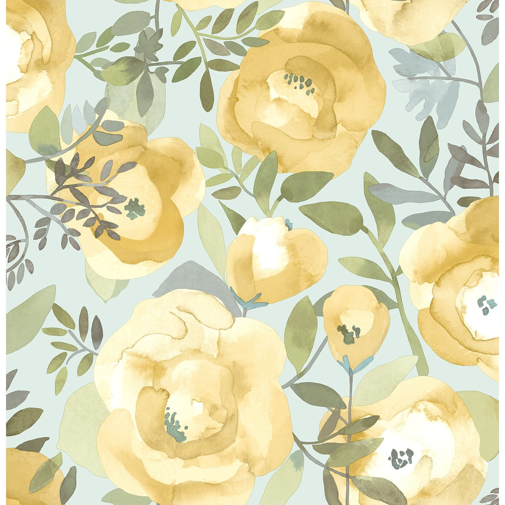 Shop Nathaniel Orla Yellow Floral Wallpaper On Sale Overstock 31974836