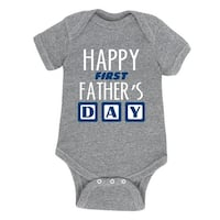 Happy First Father's Day, Blocks  - Infant One Piece