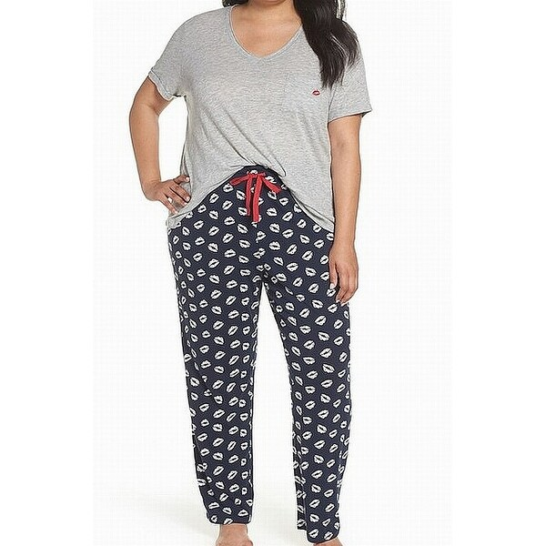 aea8565b86c0 Shop PJ SALVAGE Grey Heart Print Plus Pajama Sets Sleepwear - On Sale -  Free Shipping On Orders Over $45 - Overstock - 28115119